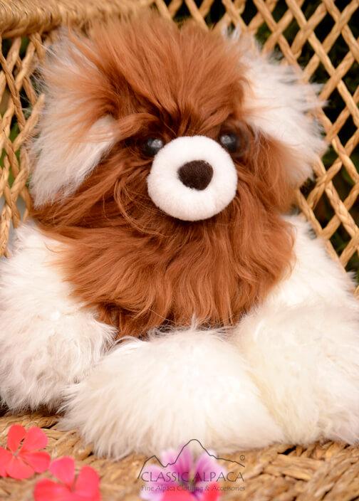 "PREMIUM Baby Suri Alpaca Fur - Teddy Bear 10"""