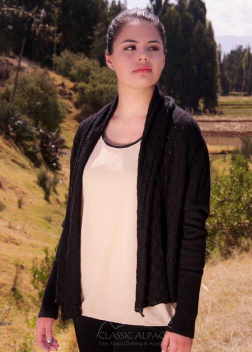 Chelsea Baby Alpaca Lace Cardigan