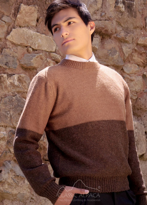 Christopher Alpaca Crewneck Sweater | Classic Alpaca Peru