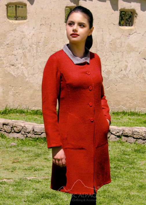 Reversible Alpaca Dress Coat | Classic Alpaca Peru