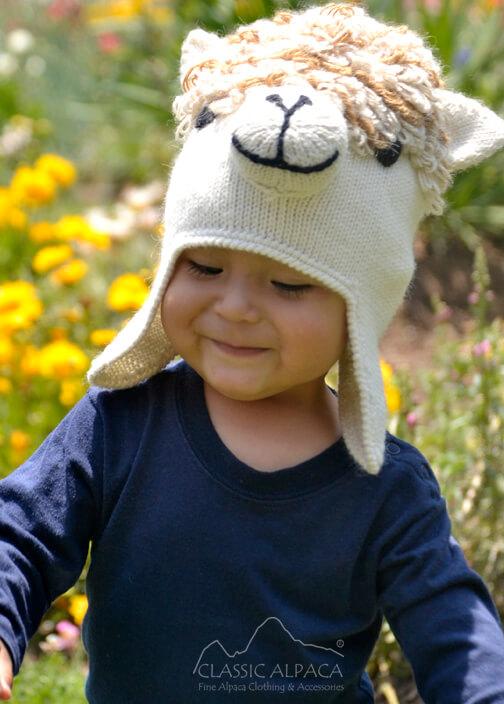 Alpaca Kids - Alpaca Hat with Ear Flaps