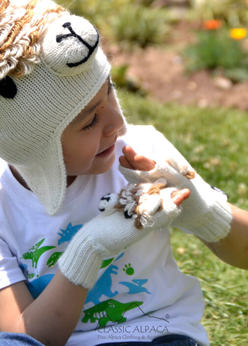 Alpaca Kids - Alpaca Fingerless Gloves