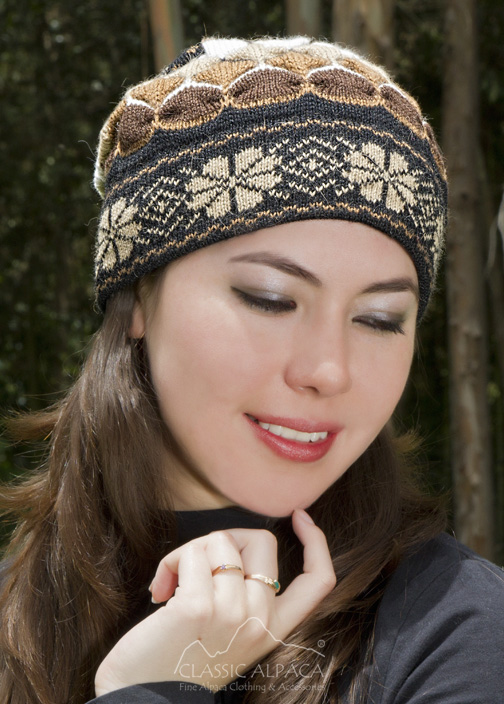 Natura Alpaca Knit Hat - Fleece Lining