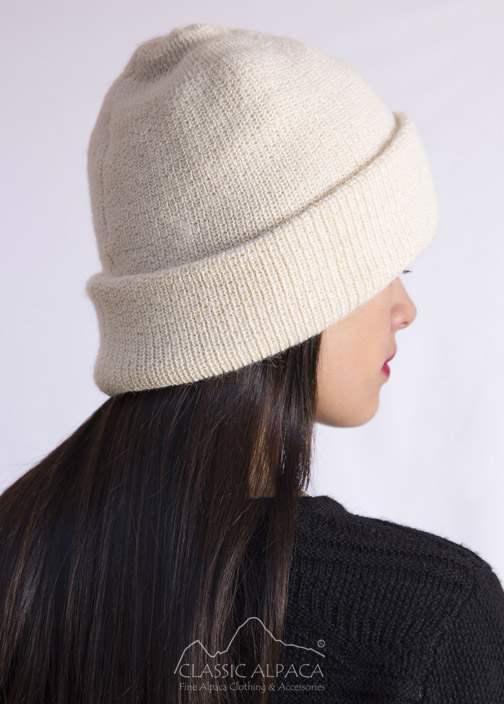 Women's Double Knit English Alpaca Hat
