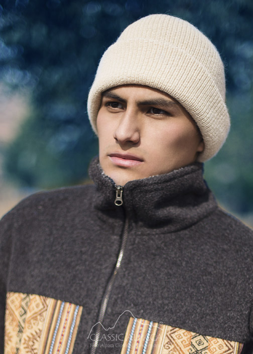 Mens Double Knit English Alpaca Hat | Classic Alpaca Peru