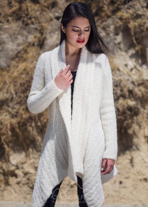 Boucle Alpaca Long Cardigan