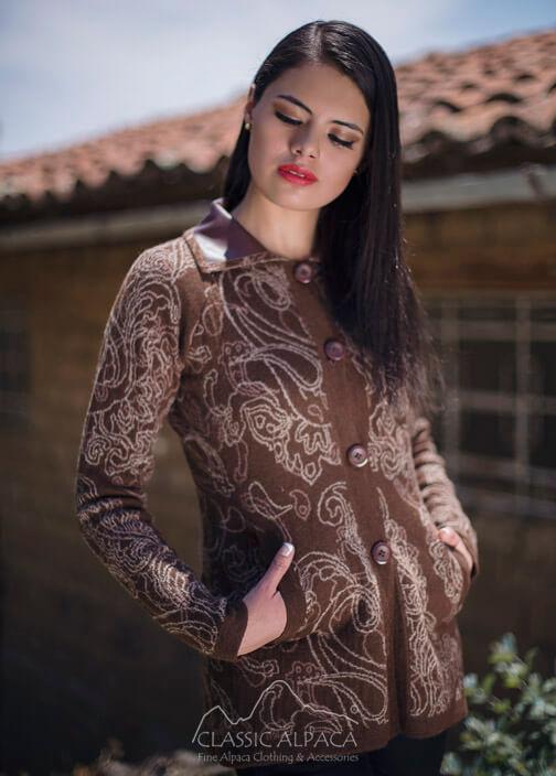 Marcella Alpaca Long Jacket