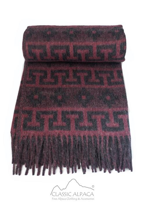 Alpaca Ethnic Inka Blanket   Classic Alpaca Peru