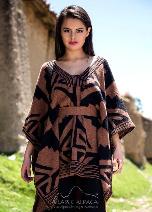 Kimono Jacquard Baby - Alpaca Cape