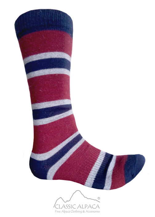 Multi Striped Simply Alpaca Socks