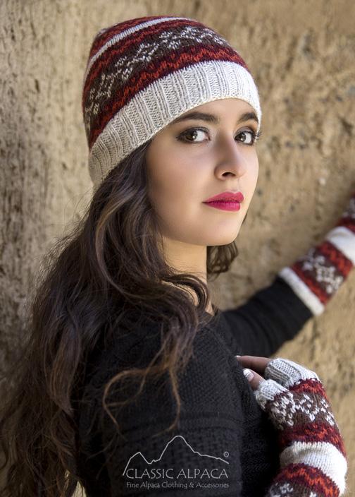 Winter Color Alpaca Hat