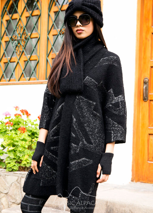 Textured Oversized Long Jacket
