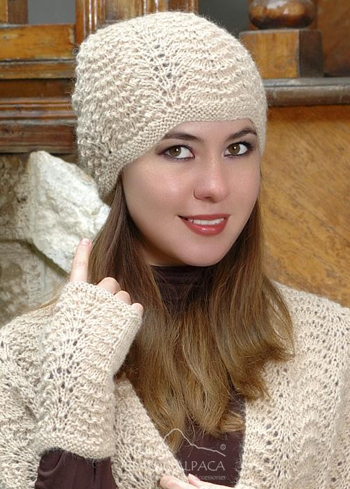 Scallop Lace Alpaca Hat