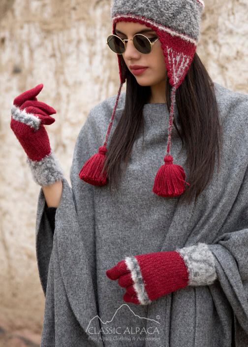 Shipibo Alpaca Boucle Gloves