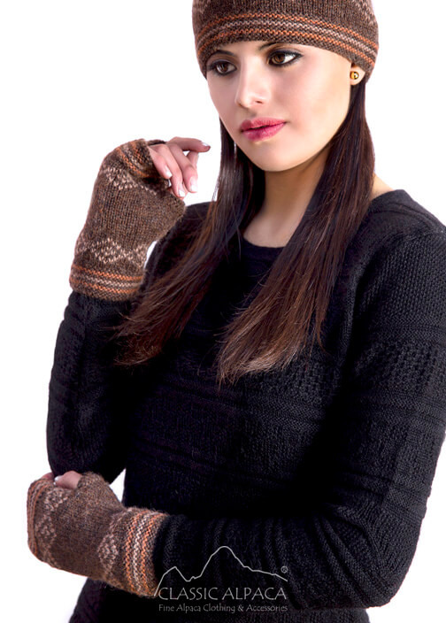 Alpaca Zoe Fingerless Gloves