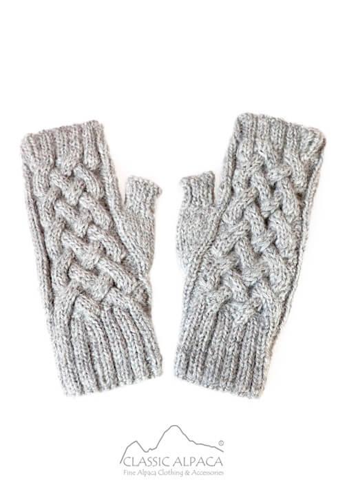 Shadow Cable Alpaca Fingerless Gloves