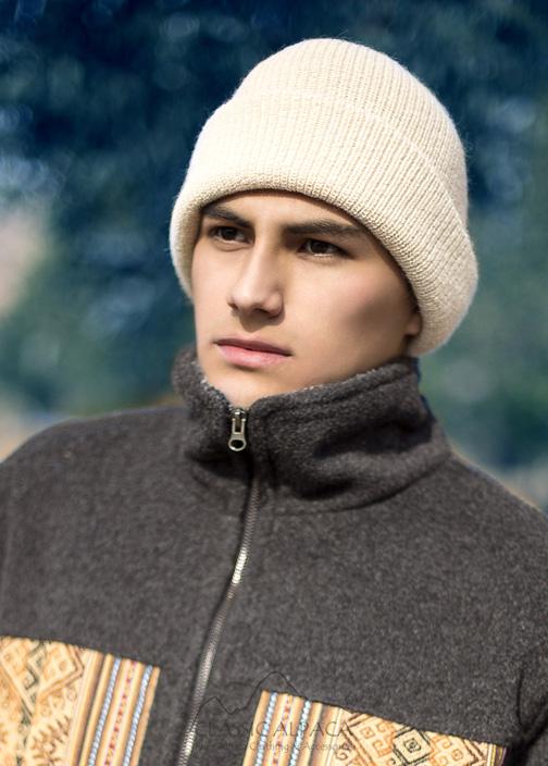 Men's Double Knit English Alpaca Hat