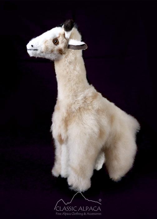 Baby Alpaca Fur - Giraffe Ornament 13 inches