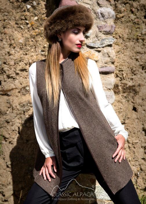 Royal Alpaca Lady Pocket Coat Vest
