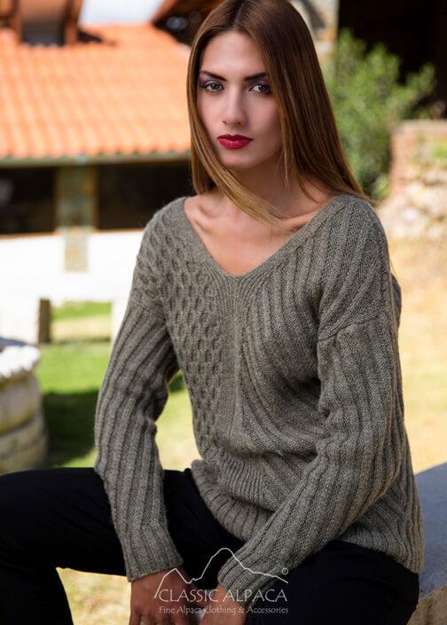 Reverse Alpaca Sweater Cardigan