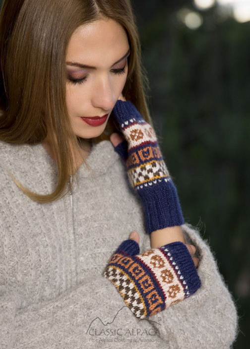 Chicama Alpaca Fingerless Gloves