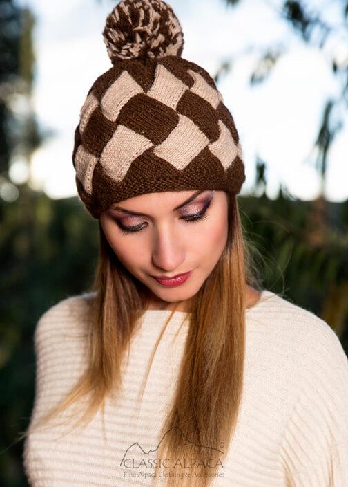 Patchwork Knit Alpaca Hat