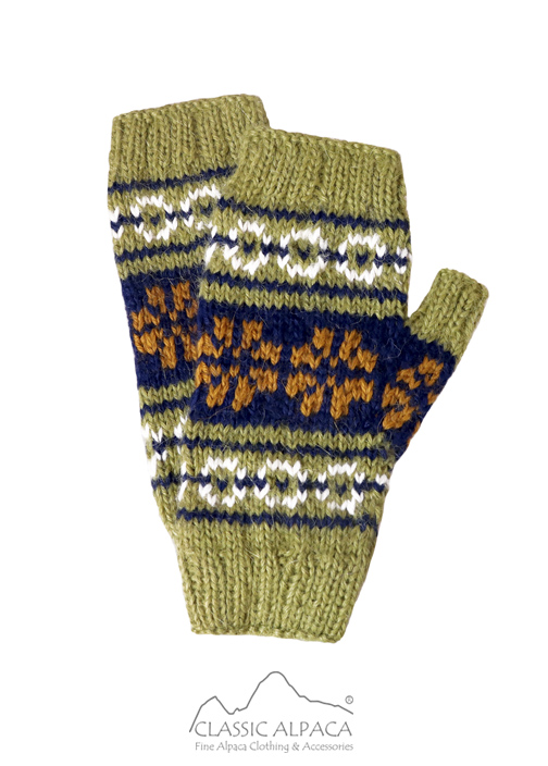 Alpaca Rustic Fingerless Gloves