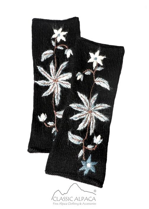 Blossom Baby Alpaca Fingerless Gloves