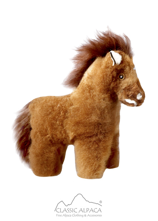 Alpaca Fur - Horse Ornament 12 inches
