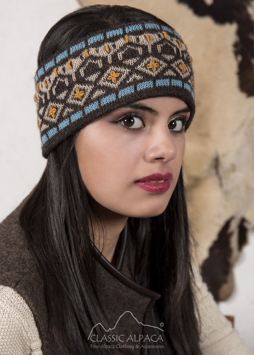 Ethnic Embroidered Alpaca Headband