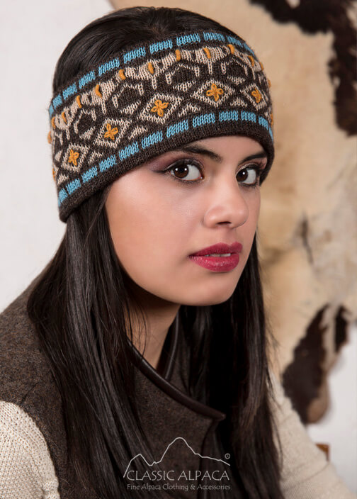 Ethnic Embroidered Alpaca Headband