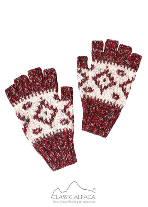 Dallas Baby Alpaca Half Finger Gloves