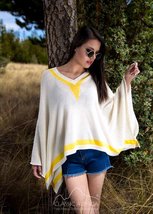 Cotton Baby Alpaca Breeze Poncho Cape