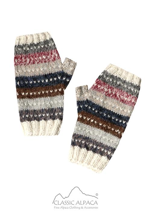 Cusco Alpaca Fingerless Gloves