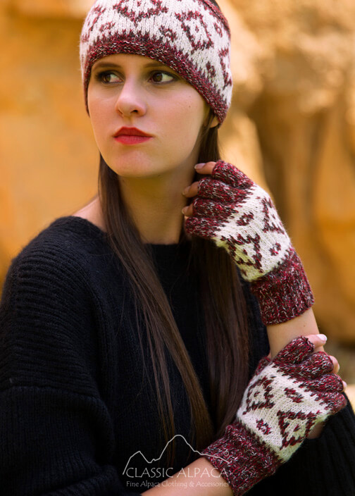 Dallas Baby Alpaca Half Finger Gloves