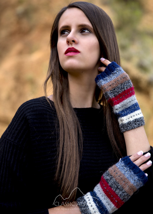 Cusco Alpaca Fingerless Gloves