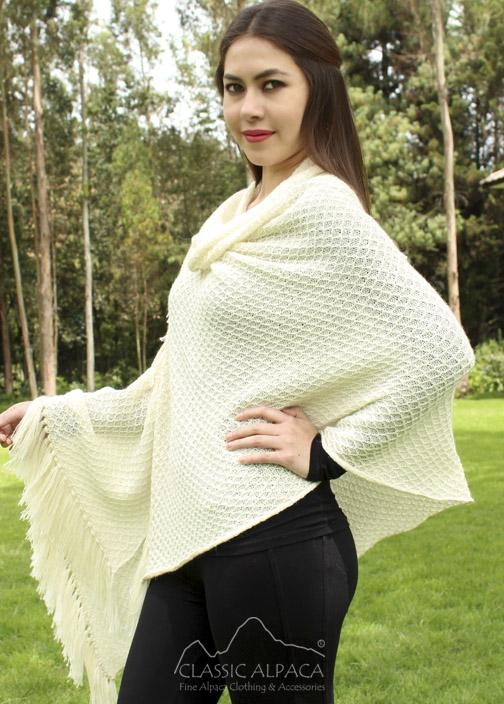 Honeycomb Alpaca Lace Shawl