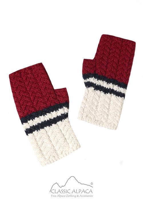 Nautical Baby Alpaca Fingerless Gloves