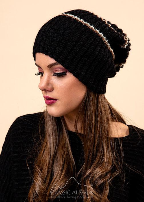 Ribbed Alpaca Beanie Hat
