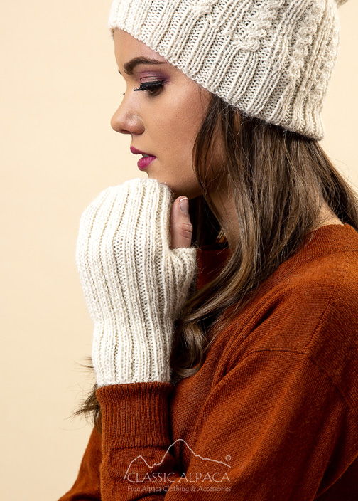 Portree Alpaca knit Fingerless Gloves