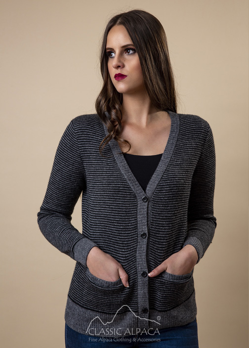 Rustic Stripes Alpaca Cardigan