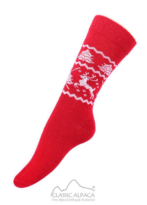 Alpaca Reindeer Unisex Socks