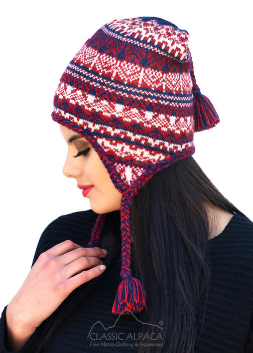 Bora Alpaca Hat with Ear Flaps