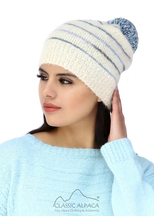 Brushed Striped Alpaca Hat