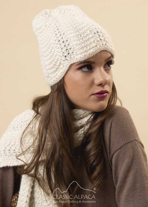 Justin Scallop Lace Alpaca Hat
