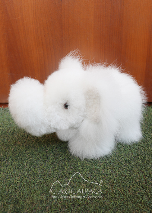 BABY Alpaca Fur - Elephant Ornament 8""