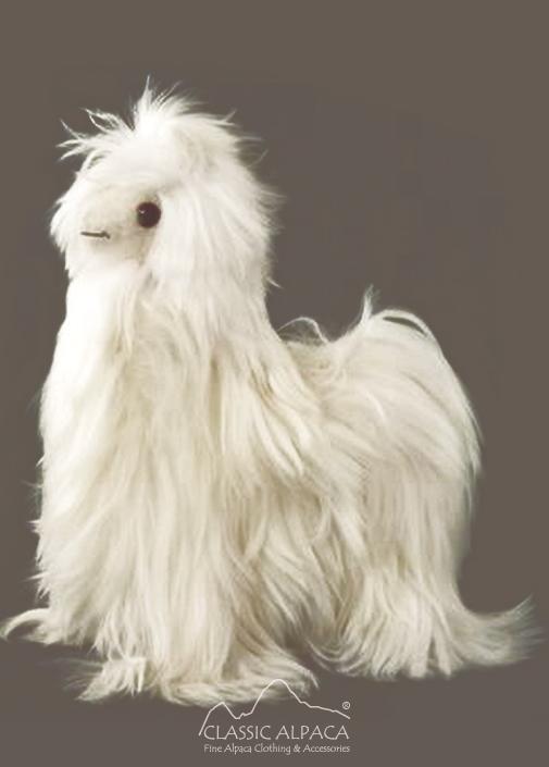 """BABY Alpaca Suri Fur-Standing Alpaca 9"""""""