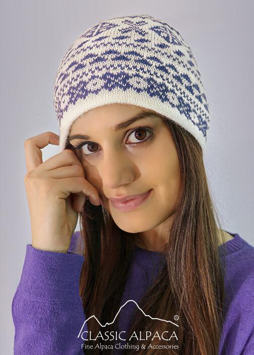 Winter Alpaca Knit Hat - Fleece Lining