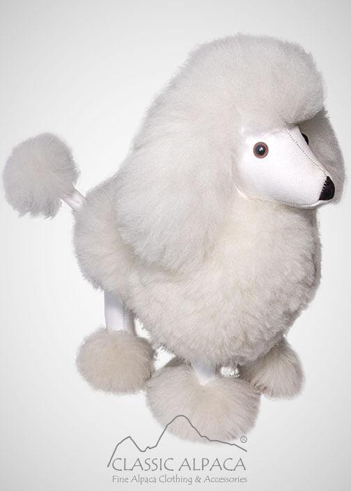 """Baby Alpaca Fur Poodle Dog 13"""""""