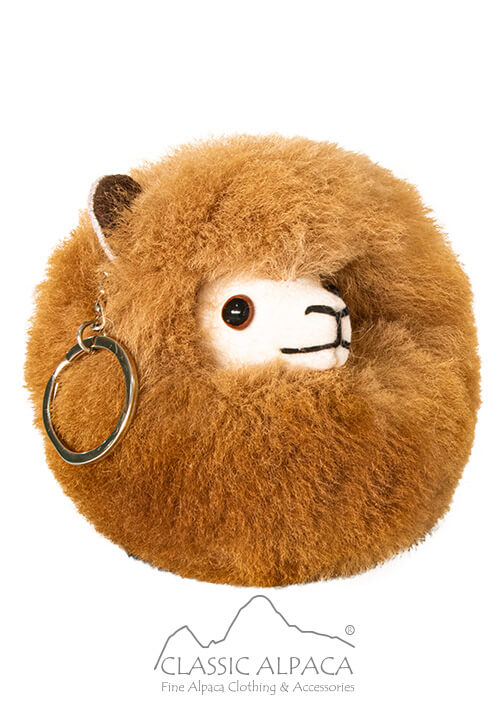 "Keychain Baby Alpaca Fur Face 4"""